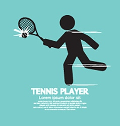 Tennis player black graphic symbol vector