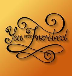 You are invited inscription holiday invitation vector