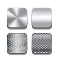Apps metal icon set vector