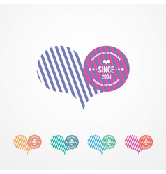Symbol for lovers color vector