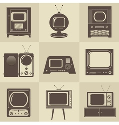 Retro vintage tv set vector