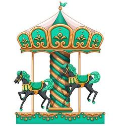 A green merry-go-round vector