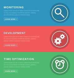 Flat design concept for monitoring development vector