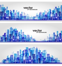 Abstract cityscape background banners vector