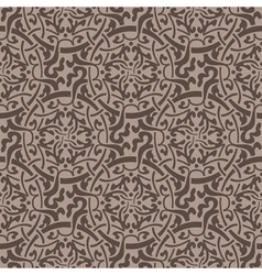 Brown floral seamless wallpaper pattern vector