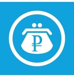 Ruble purse sign icon vector