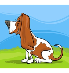Basset hound dog cartoon vector