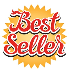 Best seller sticker vector