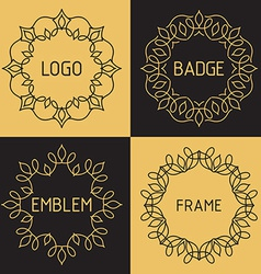 Outline frames and badges vector