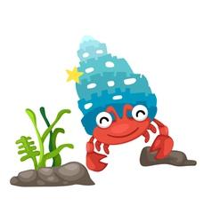 A hermit crab vector