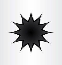 Star shape hole in paper vector