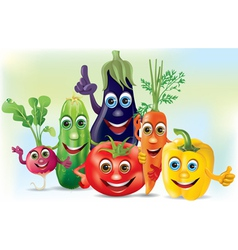 Cartoon company vegetables vector