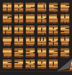 Gold font set vector
