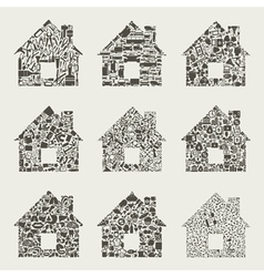 Collection the house vector