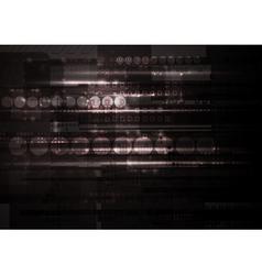 Dark hi-tech backdrop vector