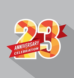 23rd years anniversary celebration design vector