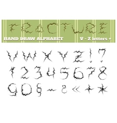 Fracture alphabet part two vector