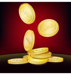 Golden coins background vector