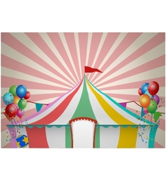 Circus tent celebration vector