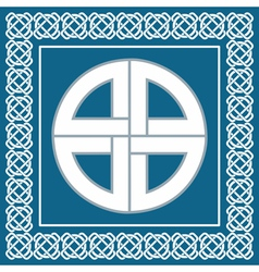 Ancient celtic knotsymbol of protection vector