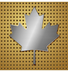Leaf of steel vector