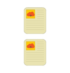Cloud download and upload icon 17 vector