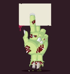 Zombie hand and greeting card vector