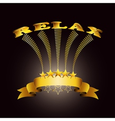 Relax ribbon vector