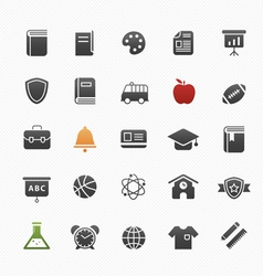 Education symbol icon set vector