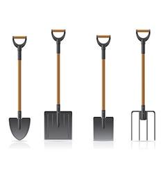 Garden tool shovel 04 vector