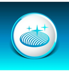 Button glass orb disco icon round vector