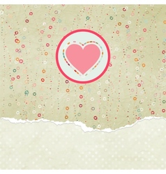 Valentine heart card vector