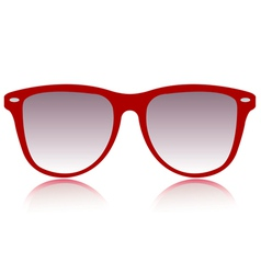 Red sunglasses vector