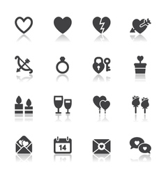 Valentine day icons vector