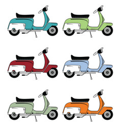 Vintage scooters vector