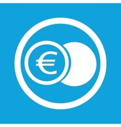 Euro coin sign icon vector