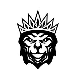 Heraldic crowned lion vector