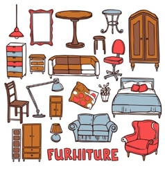 Home furniture set vector