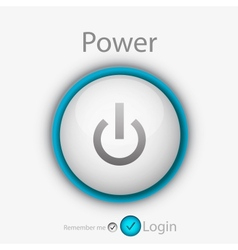 Power login button vector