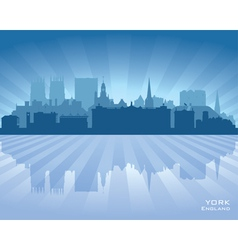 York england city skyline silhouette vector
