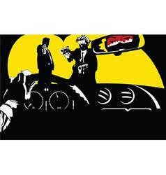 Film noir car background vector