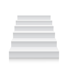 Stairs isolated on white background vector