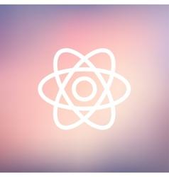 Atom thin line icon vector
