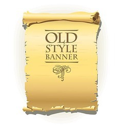 Old style banner vector