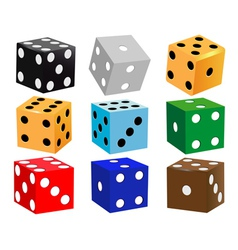 Dice for games vector