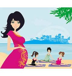 Childbirth education classes outdoors vector