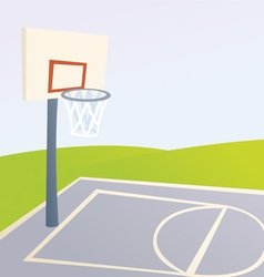 Cartoon basketball court vector