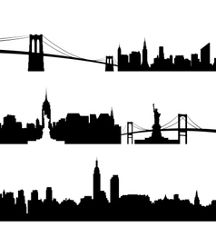 Architecture of new york vector