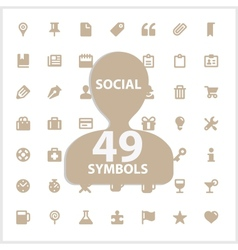 Web and social symbols set vector