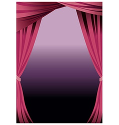 Stage curtains background vector